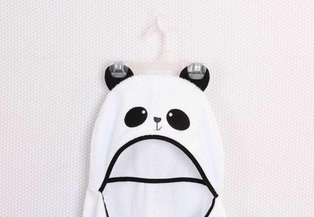Toalha de banho com capuz Panda   - Toca do Bebê