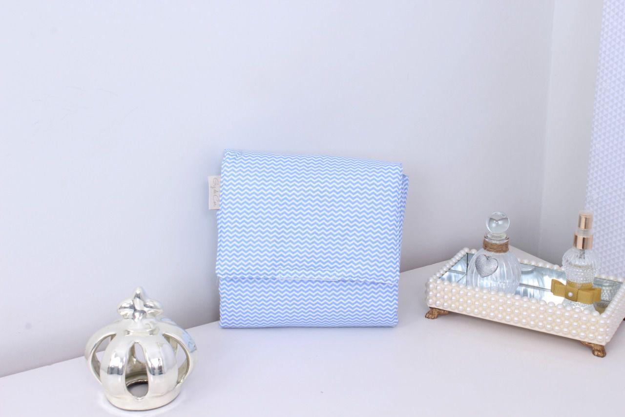 Trocador Portátil Zig Zag Azul  - Toca do Bebê