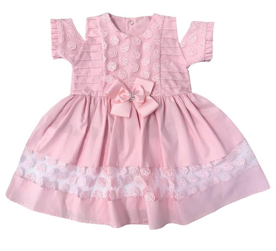 Vestido Bebê Renda Rosa