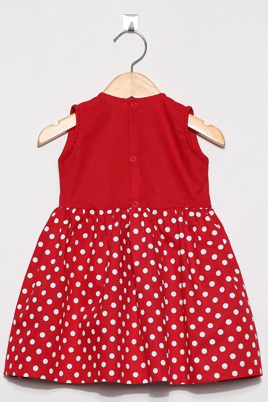 Vestido Bolinha Vermelha  - Toca do Bebê