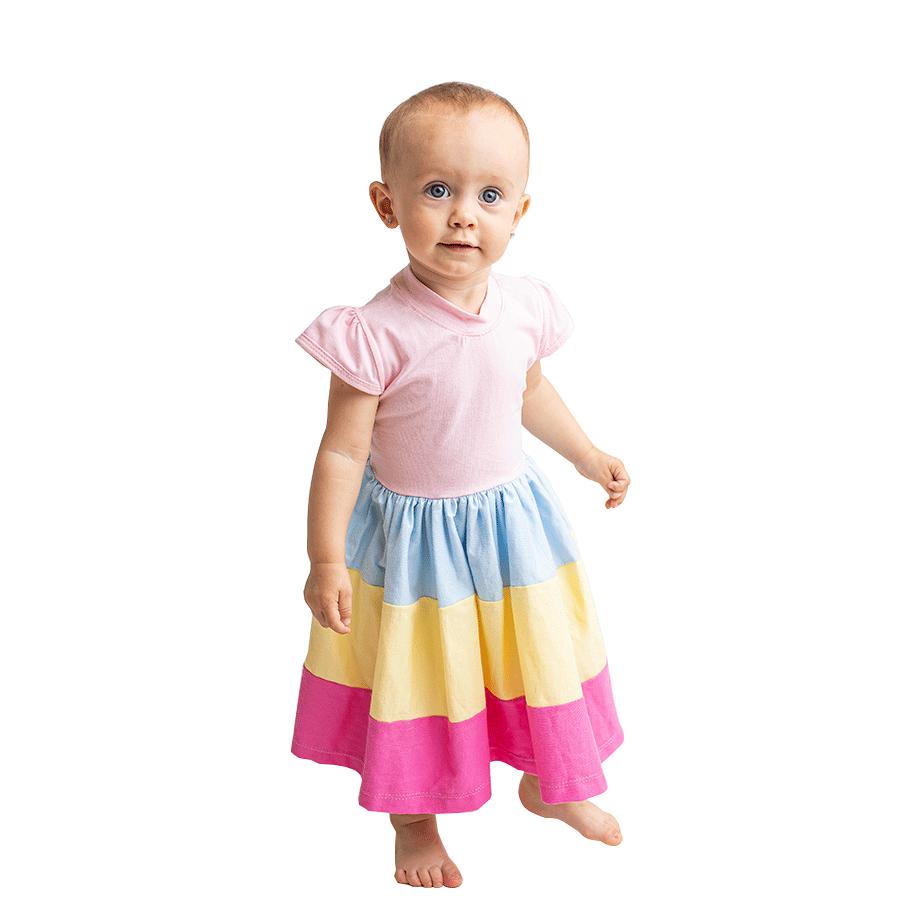 Vestido Colors  - Toca do Bebê