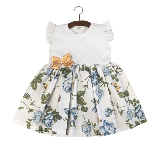 Vestido Floral com Borboleta