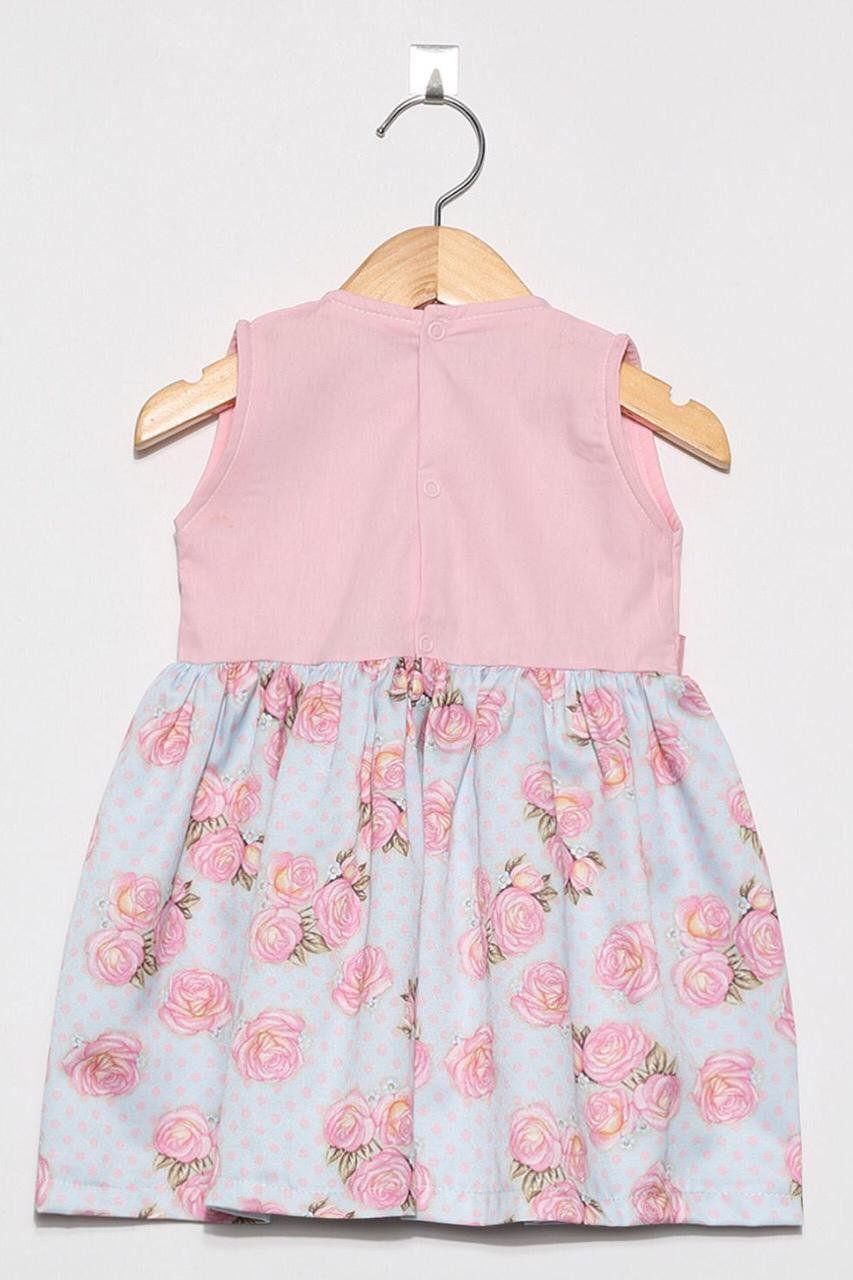 Vestido Floral Rosa  - Toca do Bebê