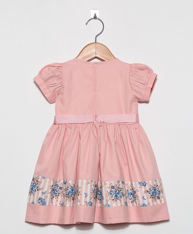 Vestido Florence Salmão  - Toca do Bebê