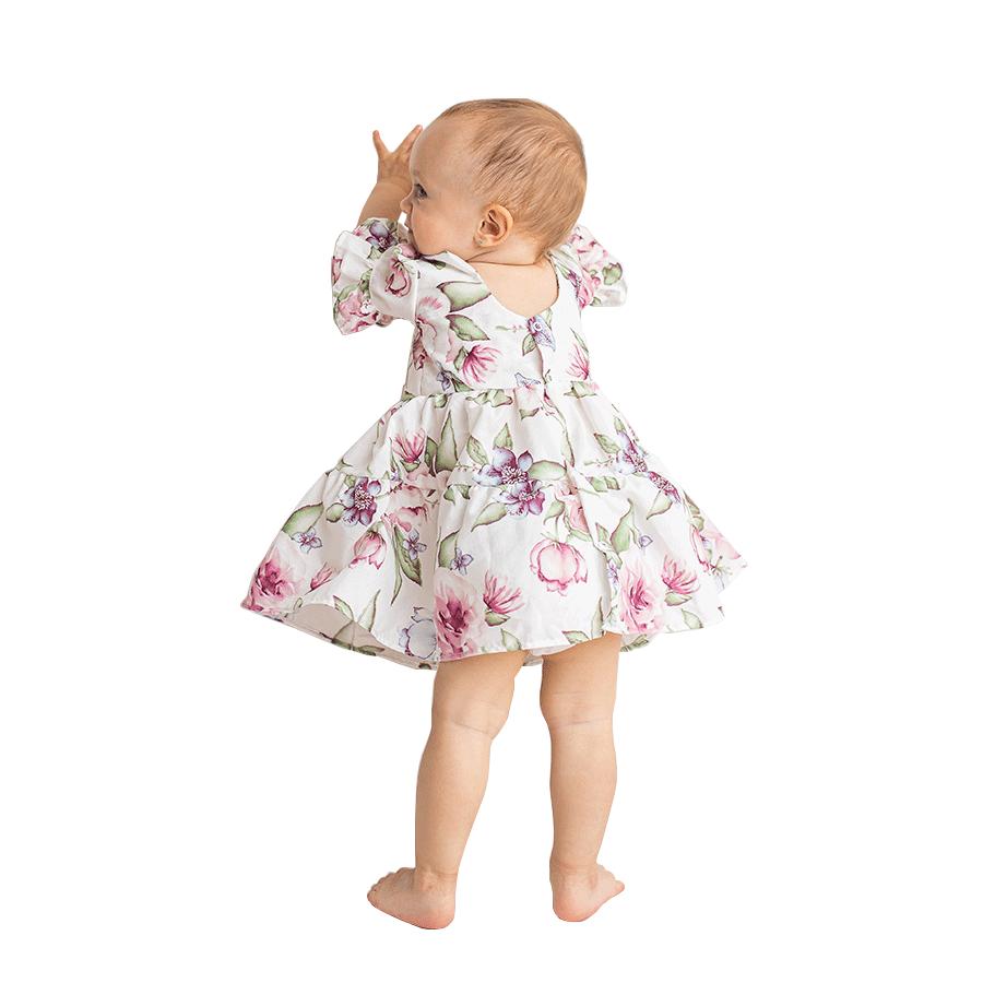 Vestido Flores  - Toca do Bebê
