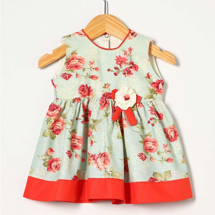 Vestido Laranja com Floral
