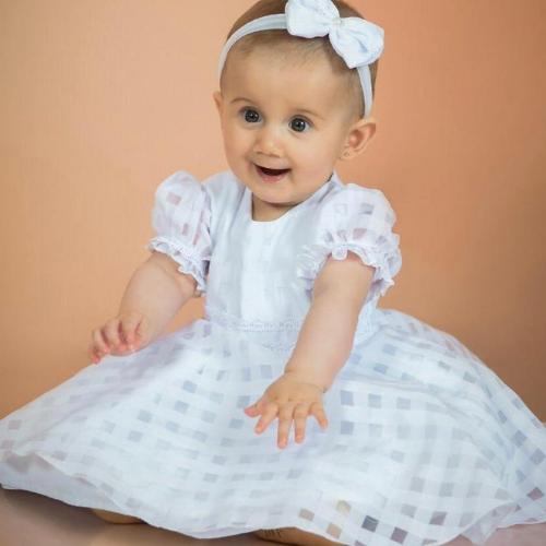 Vestido Pérola   - Toca do Bebê