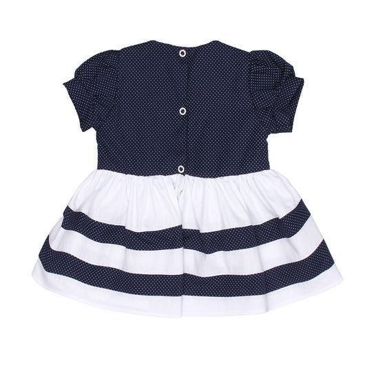 vestido Poá Marinho  - Toca do Bebê