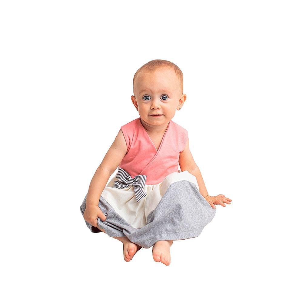 Vestido Rosê Mescla   - Toca do Bebê