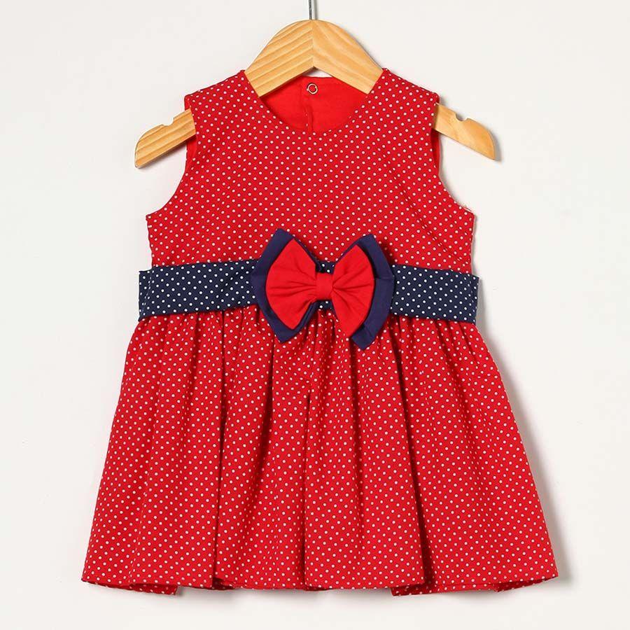 Vestido Vermelho com Azul