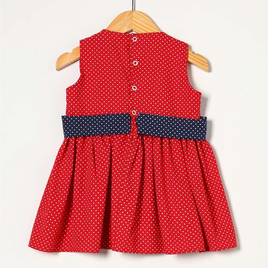 Vestido Vermelho com Azul  - Toca do Bebê
