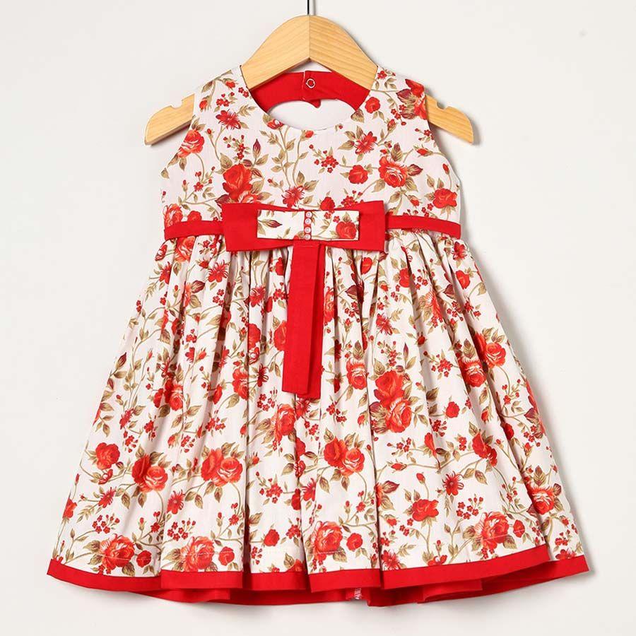 Vestido Vermelho com Floral