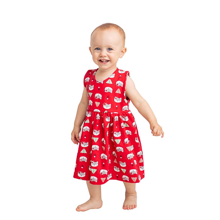 Vestido Vermelho Raposinha