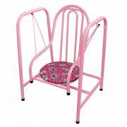 Balanço Luxo Infantil - Super Seguro Rosa