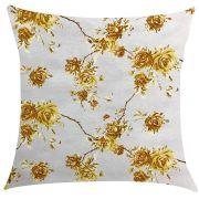 Capa de Almofada Impermeável Acqua Linea Amarelo Floral 45x45cm