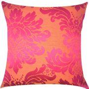 Capa de Almofada Jacquard Pink com Laranja 45x45cm