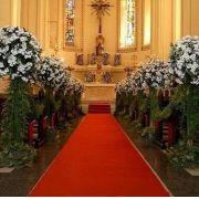 Passadeira Vermelha de Noiva para Casamento - 1m de Largura