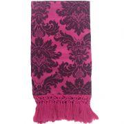Manta de Sofá Jacquard Pink com Preto 190x140