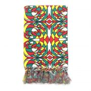 Manta Para Sofá em Tecido Jacquard Romero Britto 190x140cm
