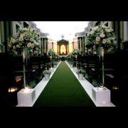 Passadeira de Noiva para Casamento Verde Musgo - 1m de Largura