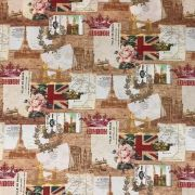 Tecido Jacquard Cotone Estampado Bandeiras - 1,40m de Largura