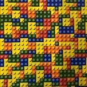 Tecido Jacquard Estampado Lego - 2.80m de Largura
