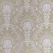 Tecido Jacquard Floral Bege 2.80m de Largura