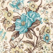 Tecido Karsten Onix Marrom Floral 1.40m de Largura