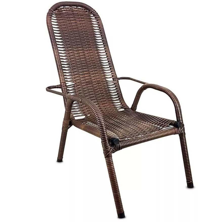 Cadeira de Área em Fibra de Junco Sintético