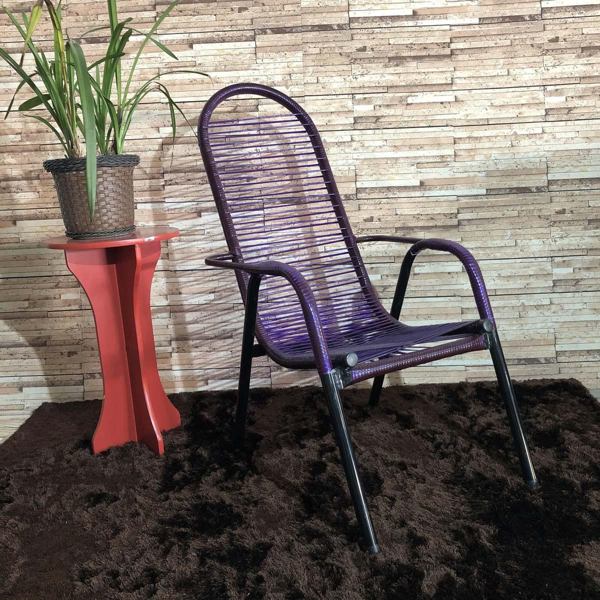 Cadeira de Área Maitê Fio Duplo Extra Forte - Roxo