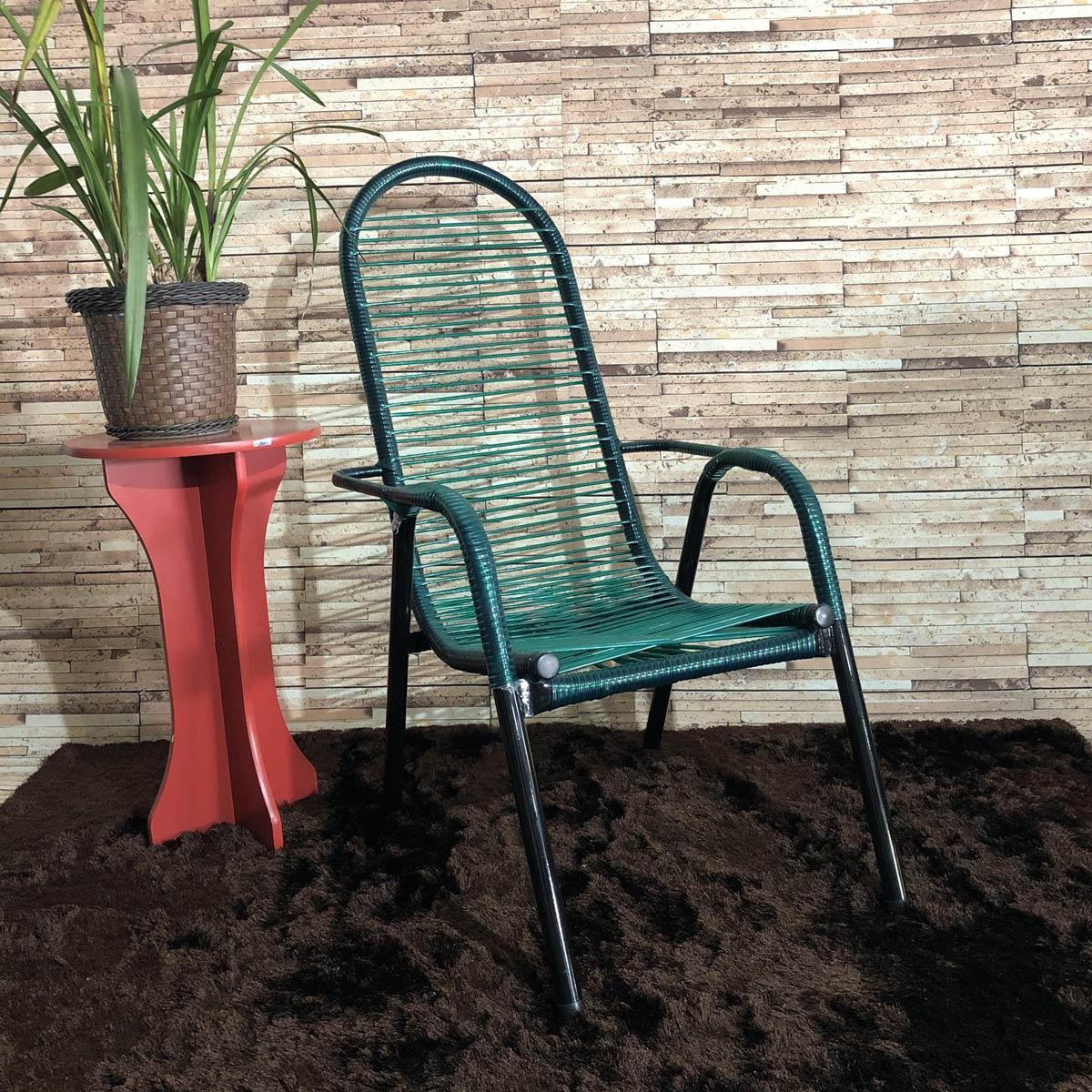 Cadeira de Área Maitê Fio Duplo Extra Forte - Verde Escuro