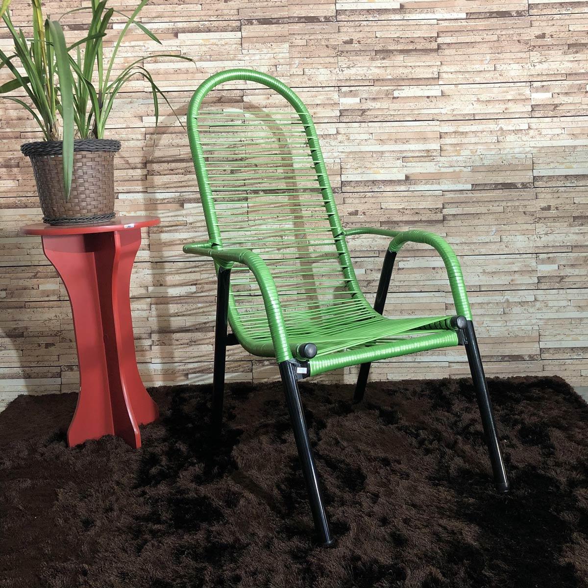 Cadeira de Área Maitê Fio Duplo Extra Forte - Verde Limão