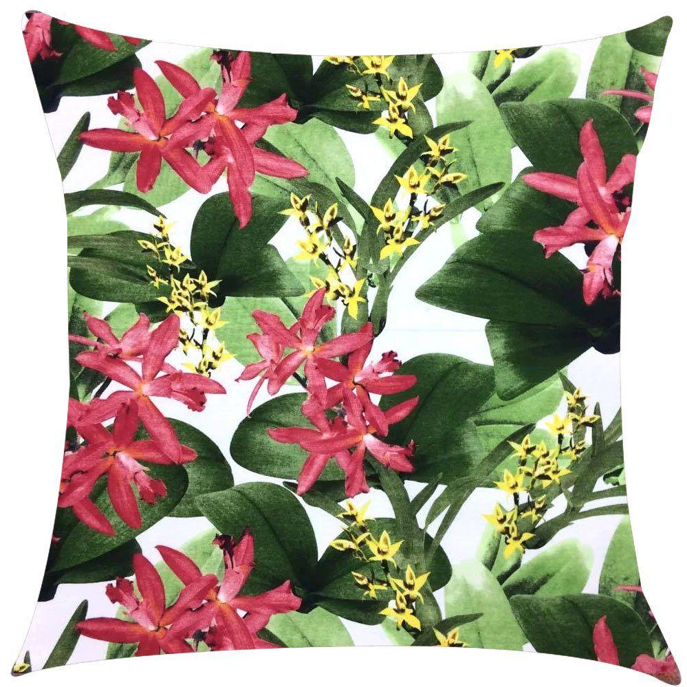 0c30752de6ee1e Capa de Almofada Acquablock Juriti Floral Impermeável 43x43cm