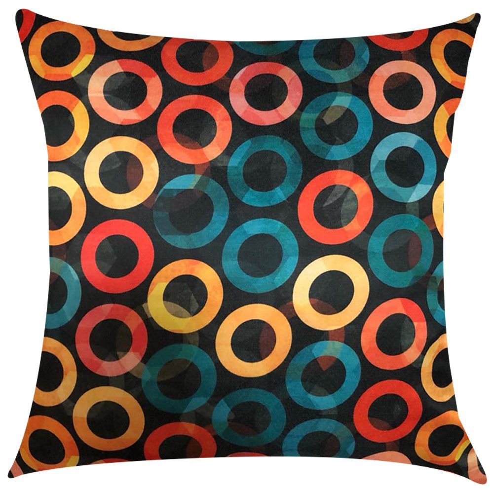 Capa de Almofada Argolas Coloridas 45x45cm