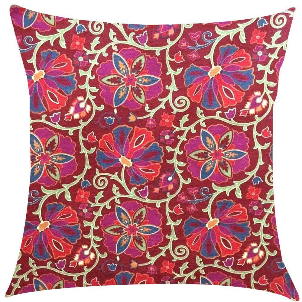 Capa de Almofada Cazoli Vermelho Impermeável 45x45cm