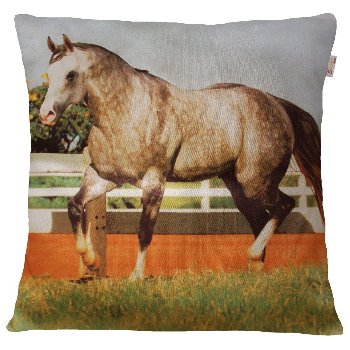 Capa de Almofada Decorativa Animais Cavalo Cavalgando 45x45cm