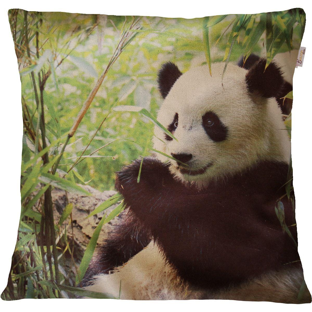 Capa de Almofada Decorativa Animal Panda 45x45cm