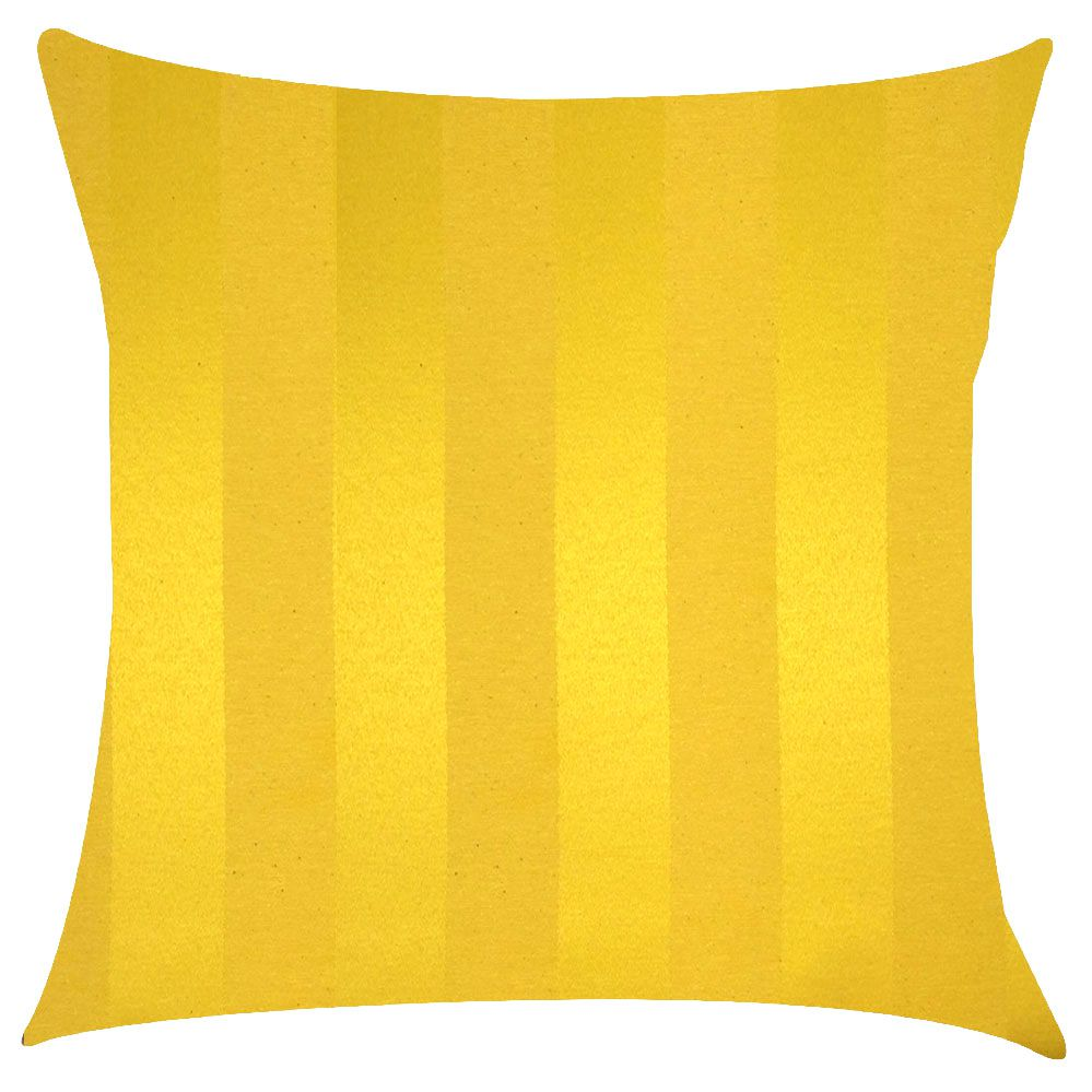 Capa de Almofada Jacquard Amarelo Listrado 45x45cm