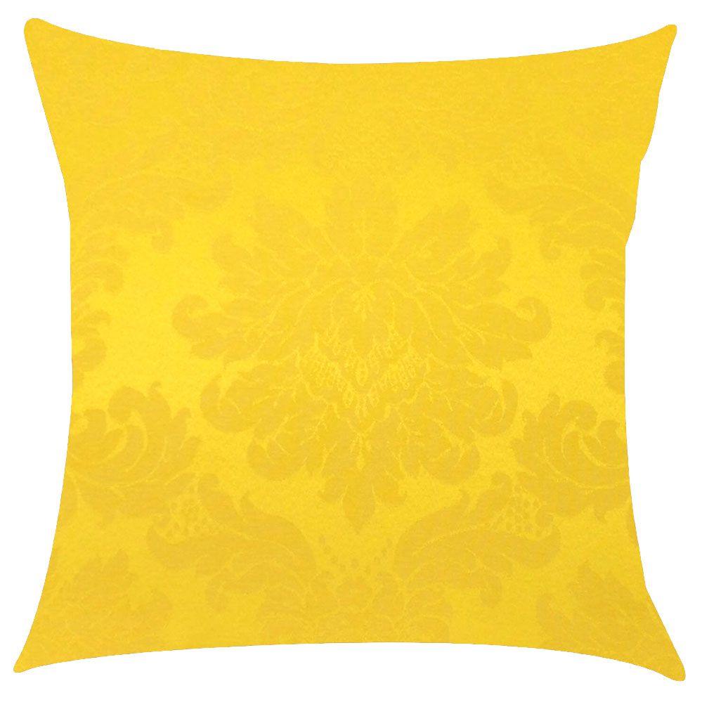 Capa de Almofada Jacquard Amarelo 45x45cm