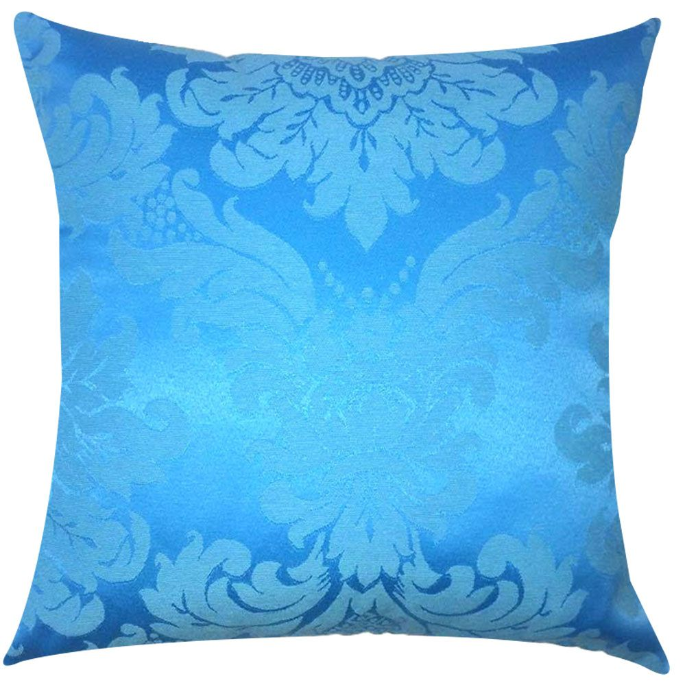 Capa de Almofada Jacquard Azul Turquesa 45x45cm