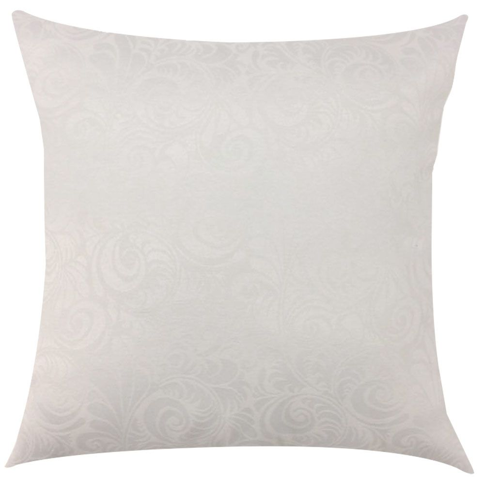 Capa de Almofada Jacquard Branco Floral 45x45cm