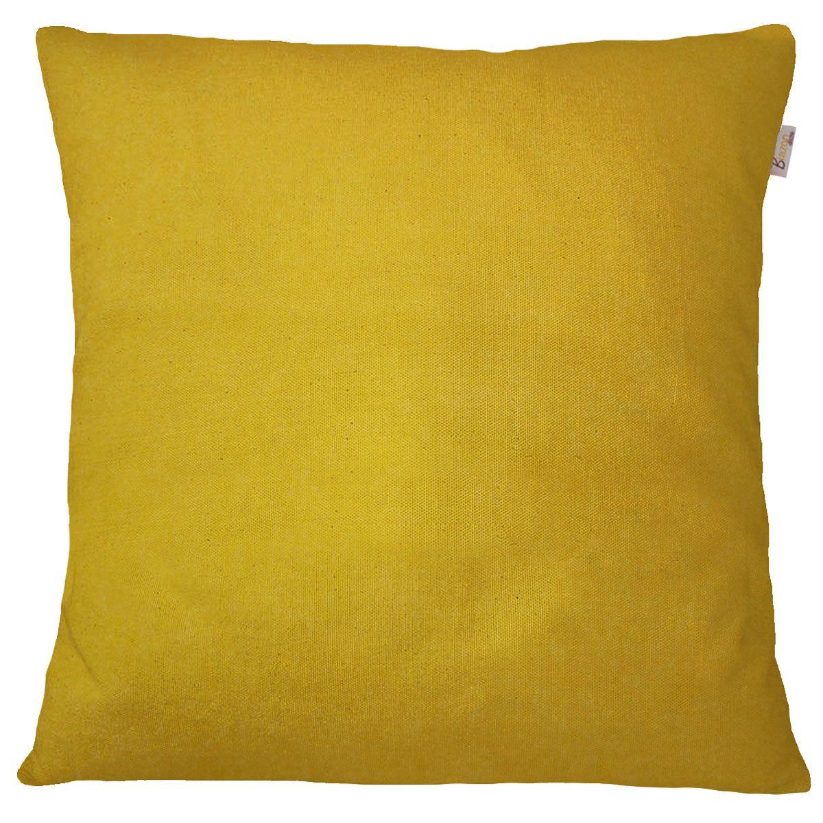 Capa de Almofada Jacquard Encanto Amarelo Liso 45x45cm