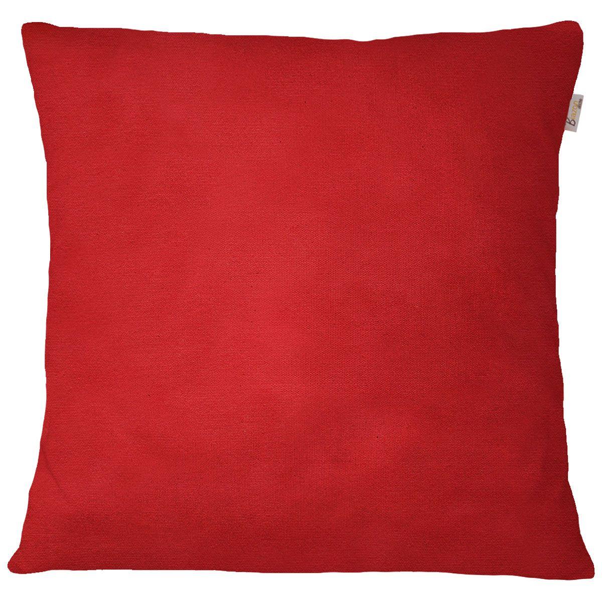 Capa de Almofada Jacquard Encanto Vermelho Queimado Liso 45x45cm