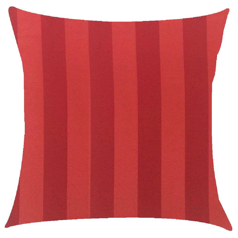 Capa de Almofada Jacquard Vermelho Listrado 45x45cm