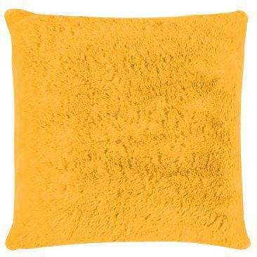 Capa de Almofada Pelúcia Amarelo 45x45cm