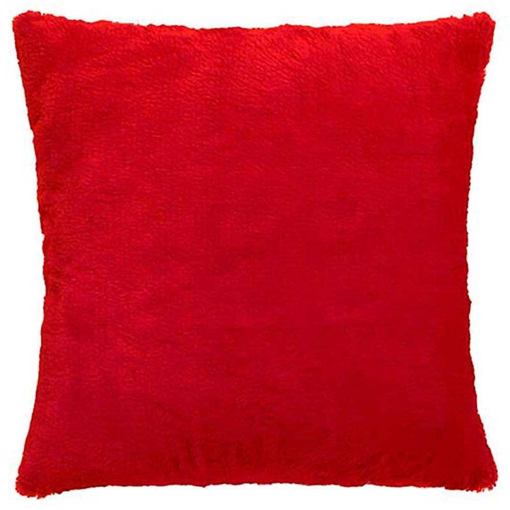 Capa de Almofada Pelúcia Vermelho 45x45cm