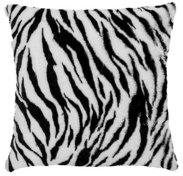 Capa de Almofada Pelúcia Zebra 45x45cm