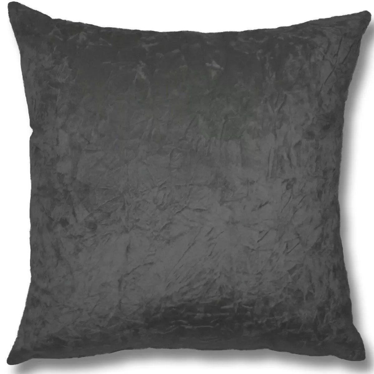 Capa de Almofada Sued Cinza 45x45cm