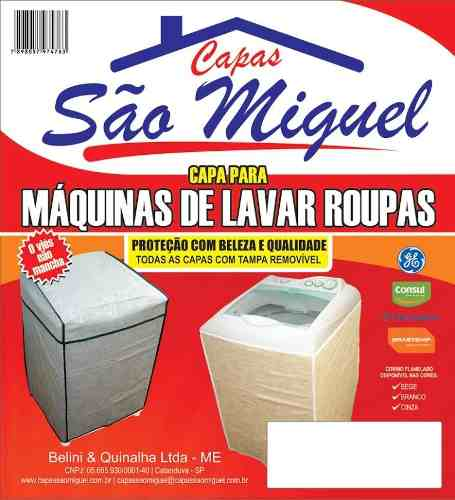 Capa Tanquinho Sem Esfregador Lavar Roupas Corino Resistente REF 012