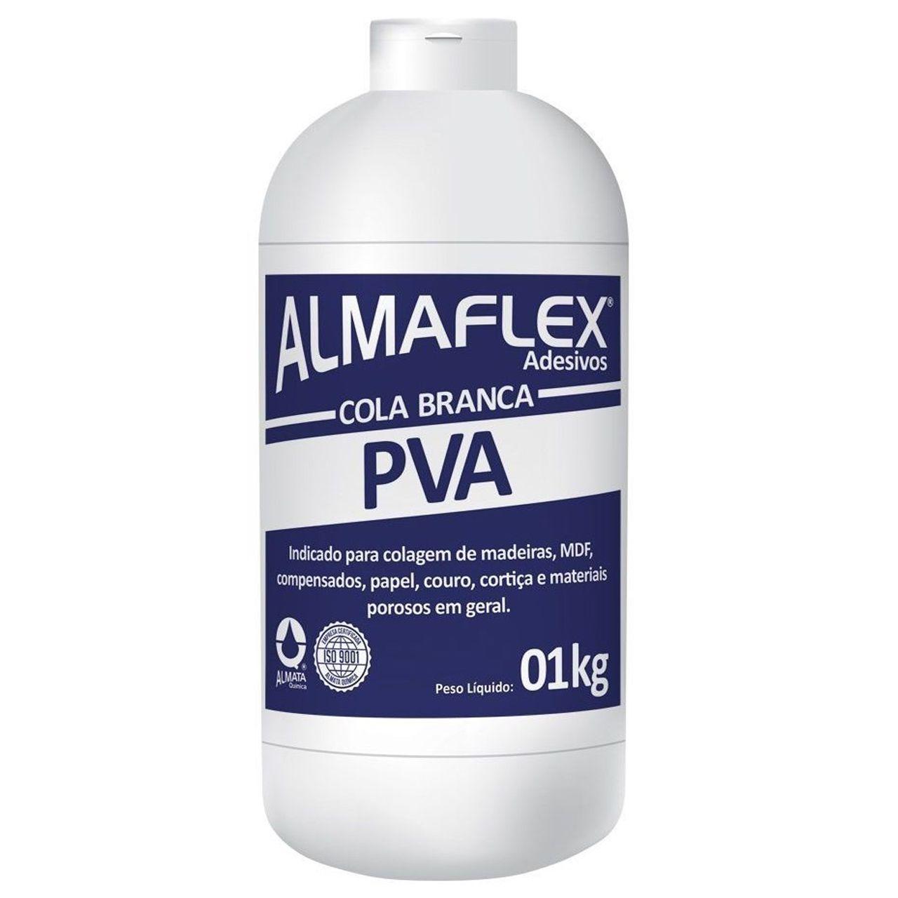 Cola Branca Extra Almaflex para Tecido De Parede 1Kg
